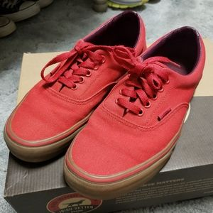 Red Vans in great pre-owned condition